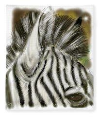 Zebra Digital Fleece Blanket