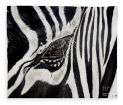 Zebra Eye Fleece Blanket