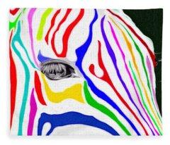 Zebra Nothing Is Black And White Fleece Blanket