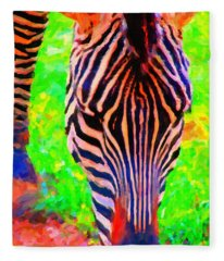 Zebra . Photoart Fleece Blanket