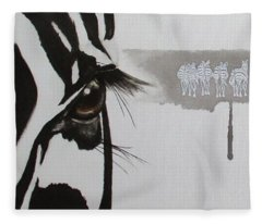 Zebra Tears Fleece Blanket