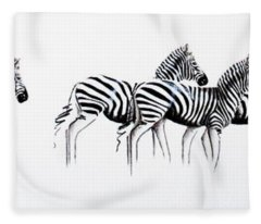 Zebrascape - Original Artwork Fleece Blanket