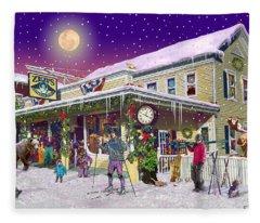 Zebs General Store In North Conway New Hampshire Fleece Blanket