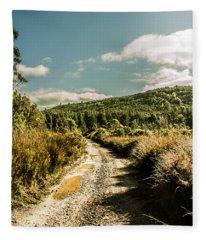 Zeehan Dirt Road Landscape Fleece Blanket