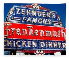 Zehnder's Frankenmuth Michigan Fleece Blanket