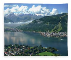 Zell Am See Panorama Fleece Blanket