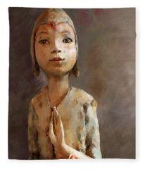 Zen Be With You Fleece Blanket