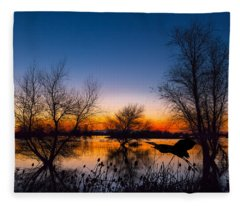 Zen Dawn Fleece Blanket