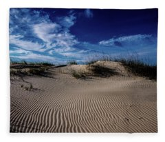 Zen Garden At The Beach Fleece Blanket