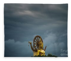 Zen In The Storm Fleece Blanket