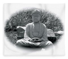 Fleece Blanket featuring the painting Zen by Michael Lucarelli
