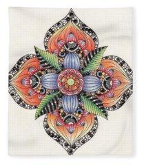 Zendala Template #1 Fleece Blanket