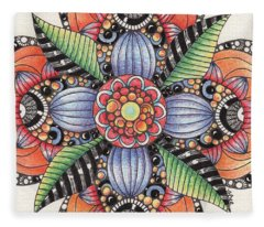 Zendala Template #1 Fleece Blanket