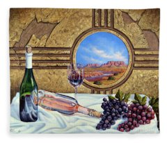 Zia Wine Fleece Blanket
