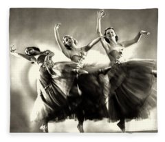 Ziegfeld Model  Dancers By Alfred Cheney Johnston Black And White Ballet Fleece Blanket