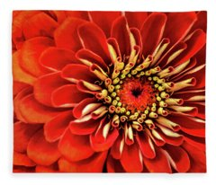 Zinnia-macro Fleece Blanket