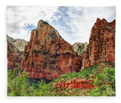 Zion N P # 41 - Court Of The Patriarchs Fleece Blanket