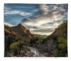 Zion National Park Sunset Fleece Blanket