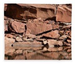 Zion--rocky Shore Fleece Blanket