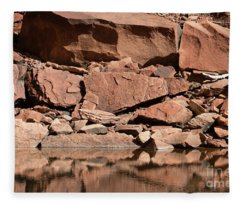 Zion--rocky Shore Fleece Blanket
