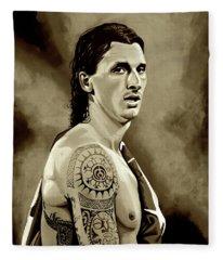 Zlatan Ibrahimovic Sepia Fleece Blanket