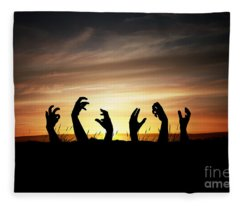 Zombie Apocalypse Fleece Blanket