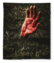 Zombie Rising From A Shallow Grave Fleece Blanket