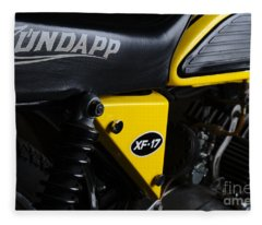 Classic Zundapp Bike Xf-17 Side View Fleece Blanket
