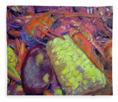 012419, Cajun Mud Bugs Fleece Blanket
