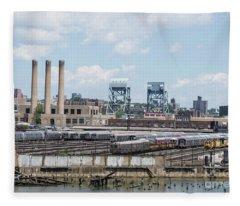 207th Street Railyards Fleece Blanket