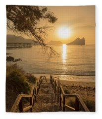 Access To The Beach At Dawn Fleece Blanket