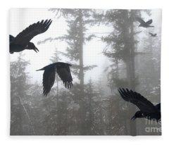 A Murder Of Crows Fleece Blanket
