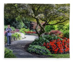 A Walk In The Garden Fleece Blanket