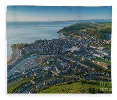 Aberystwyth From The Air Fleece Blanket