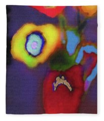 Abstract Floral Art 367 Fleece Blanket
