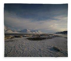 Adventfjorden Fleece Blanket
