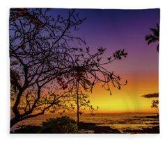 After Sunset Colors Fleece Blanket