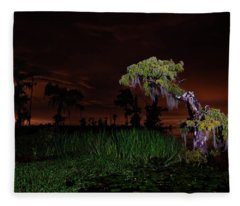 Along The Bayou Fleece Blanket