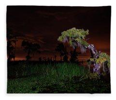 Along The Bayou Fleece Blanket