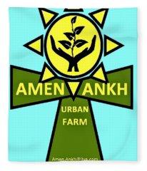Amen Ankh Fleece Blanket