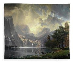Among The Sierra Nevada, California, Circa 1868 Fleece Blanket