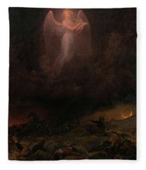 Angel On The Battlefield Fleece Blanket
