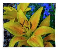 Asiatic Lily Fleece Blanket