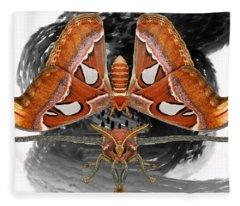Atlas Moth7 Fleece Blanket