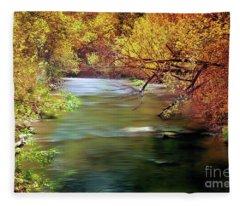 Autumn River Fleece Blanket
