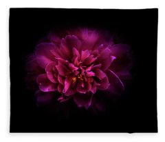 Fleece Blanket featuring the photograph Backyard Flowers 55 Color Version by Brian Carson