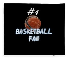#1 Basketball Fan Fleece Blanket