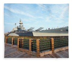 Battleship North Carolina Fleece Blanket
