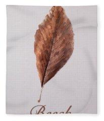Beech Leaf Fleece Blanket