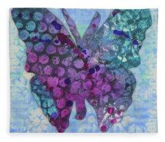 Believe Butterfly Fleece Blanket